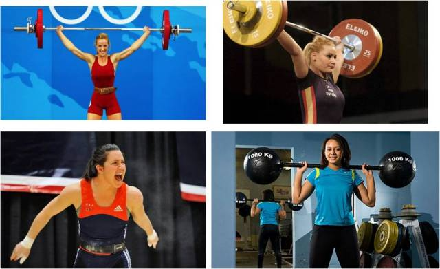 female olympic lifters